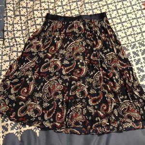 Express flowy skirt